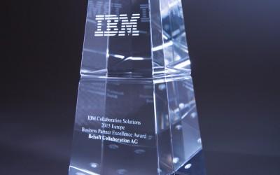 Belsoft Collaboration AG mit IBM Business Partner Excellence Award ausgezeichnet