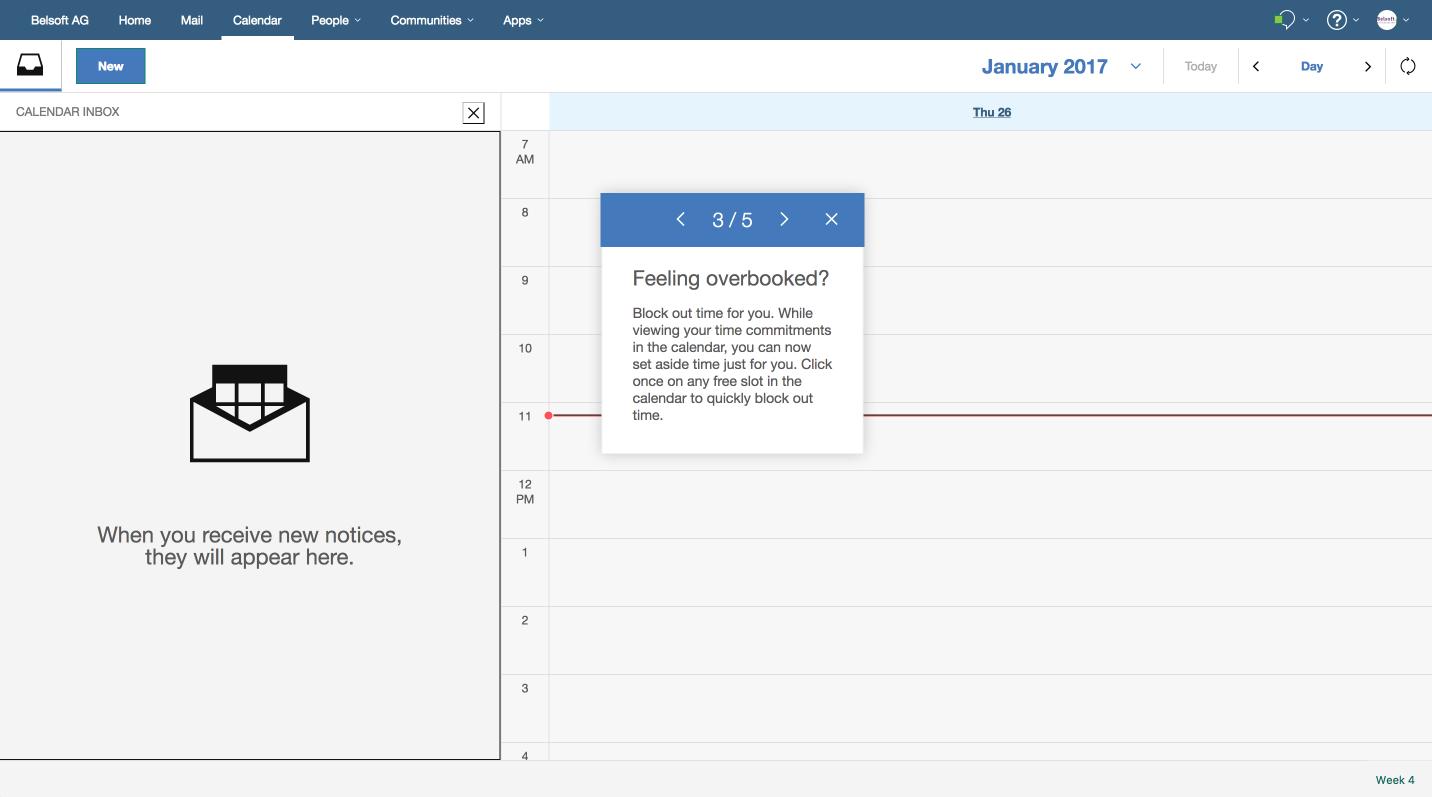 Durch einen einfachen Klick in den Kalender wird ein Zeitblocker eingetragen. Es ist weder eine Einladung noch ein Termin sondern eher ein Reminder.