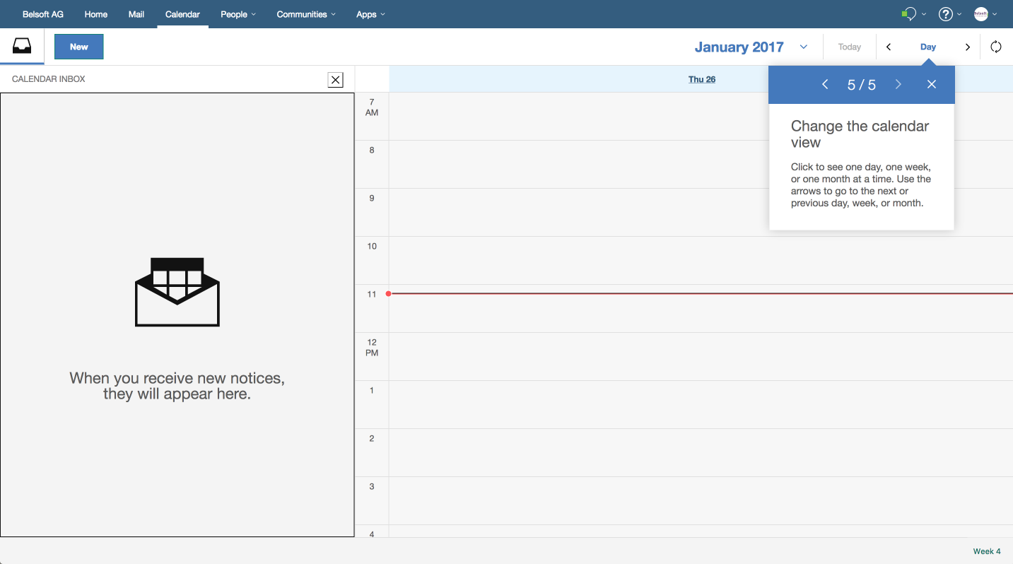 Of course you can change the view and choose the day, week or month overview.