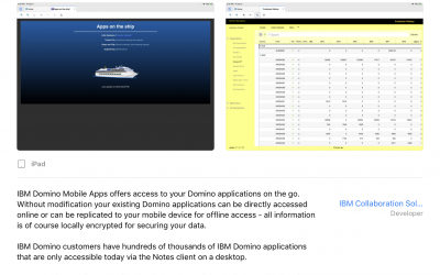 IBM Domino Mobile Apps (IDMA) is available